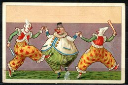CV2718 PAGLIACCI 3 Clown Che Ballano, Bellissima Cartolina, FP, Non Viaggiata, Buone Condizioni (piccola Abrasione Sul F - Humor
