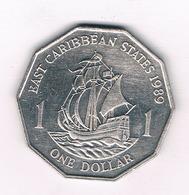 ONE DOLLAR  1989 EAST CARIBBAEN STATES /5957/ - Monnaies