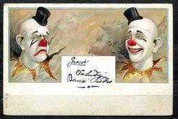 CV2719 PAGLIACCI 1901 2 Clown, Uno Ride E L'altro Piange, Bellissima Cartolina, FP, Viaggiata Per Modena, Buone Condizio - Humor