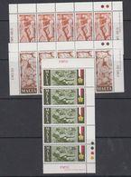 Malta 1977 Maltese Worker 3v Strip Of 5 ** Mnh (44083) - Malta