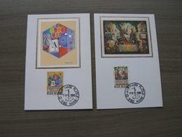 "BELG.1988 2296 & 2297 FDC (Hamme) Soie/zijde Maxicards : ""  Koninklijke Academie / L'Académie Royale "" - 1981-90"