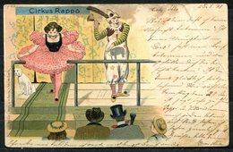 CV2720 CIRCO 1898 Cirkus Rappo Con Clown, Bellissima Cartolina, FP, Viaggiata Da Trieste Per Gorizia, Diverse Pieghe - Humor