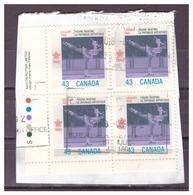 CANADA - 1988 - OLIMPIADI DI CALGARY. PATTINAGGIO ARTISTICO. QUARTINA SU FRAMMENTO / VFU - Usati