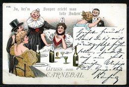 CV2724 CARNEVALE Clown Durante Una Festa, Bellissima Cartolina, FP, Scritta E Non Viaggiata, Buone Condizioni - Humor