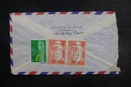 BIRMANIE - Affranchissement Plaisant  Au Verso D'une Enveloppe De L 'Ambassade De France à Rangoon - L 38057 - Myanmar (Burma 1948-...)