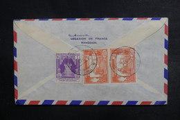 BIRMANIE - Affranchissement Plaisant  Au Verso D'une Enveloppe De L 'Ambassade De France à Rangoon - L 38059 - Myanmar (Burma 1948-...)