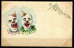 CV2726 PAGLIACCI 1901 2 Clown, Bellissima Cartolina Dipinta A Mano, FP, Non Viaggiata, Buone Condizioni - Humor