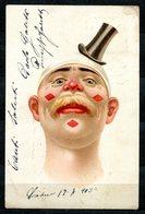 CV2727 PAGLIACCI 1903 Clown Con Cappellino, Bellissima Cartolina, FP, Viaggiata Da Soresina A Monterosso, Ottime Condizi - Humor
