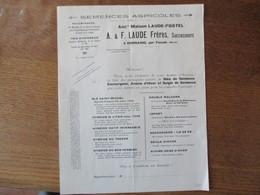 HORNAING A. & F. LAUDE FRERES SEMENCES AGRICOLES LISTE DES PRINCIPALES VERIETES DE BLE DE SEMENCE,ESCOURGEON,AVOINE D'HI - 1900 – 1949