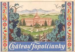 "08481 ""CHATEÂU - TOPOLČIANCKY - ROMANIA"" ETICH. ORIG. - Etichette"