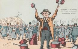 CPA Caricature Satirique Politique COMBES Marchand Ambulant Casserole Illustrateur T. BIANCO (2 Scans) - Personnages