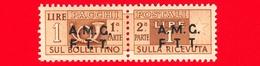 Nuovo - MNH - ITALIA - Trieste - AMG FTT - 1947-48 - Corno Di Posta, Soprastampa Su Due Righe - Pacchi Postali - 1 - Nuovi