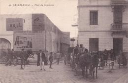 CPA MAROC - Casablanca - Place Du Commerce - Attelage -  Grébert N°42 - Casablanca