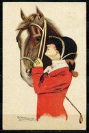CV2734 CAVALLI DONNINE, 1916, Ill. G. Nanni, Bellissima Cartolina, FP, Viaggiata Da Montecatini A Piacenza, Ottime Condi - Cartoline