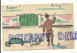 Humour Militaire. Soldat Qui Balaie, Brouette. La Corvée!! De Corvij!!. 1916. Editions Loosvelt-Adeline - Humour