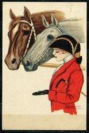 CV2736 CAVALLI DONNINE, 1916, Ill. G. Nanni, Bellissima Cartolina, FP, Viaggiata Da Montecatini A Piacenza, Ottime Condi - Cartoline