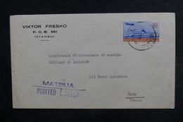 """TURQUIE - Enveloppe Commerciale Pour La France - Cachet """"  Matbua Printed Latter """" - L 38072 - Lettres & Documents"""