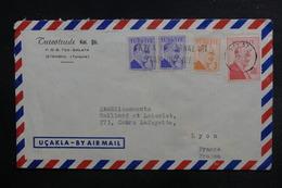 TURQUIE - Enveloppe Commerciale Pour La France En 1958, Affranchissement Plaisant - L 38073 - Lettres & Documents