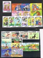 33445. Lote De 63 Sellos Theme DISNEY, Mickey, Donald, Goofy, Pinocho, Bambi,  Aladin..... º/*/** - Disney