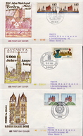 Germany 3 Used FDCs From 1985 - Architecture