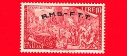 Nuovo - MNH - ITALIA - Trieste - AMG FTT - 1948 - Centenario Del Risorgimento - Difesa Della Porta Di Vicenza - 10 L. - 7. Trieste