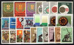 Portugal Nº 1083/1106.  Año 1970/71 - 1910 - ... Repubblica