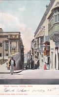 CPA Malte / Malta - Strada Vescovo - Valletta - 1904 - Coin Gauche Inférieur Corné Voir Scan - Malte