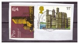 GRAN BRETAGNA - DUE VALORI USATI SU FRAMMENTO / VFU - 1952-.... (Elisabetta II)