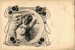 ** T2/T3 Art Nouveau Erotic Art Postcard. A.S.W. Collection 'Vlan' No. 892. S: Ch. Scolik (EK) - Unclassified
