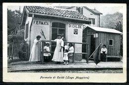 CV2762 CALDE' Castelveccana (Varese VA) Stazione, Bella Veduta Animata, FP, Viaggiata 1947 Per Sportorno, Ottime Condizi - Varese