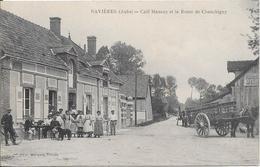 SAVIERES - Café Mansuy Et La Route De Chauchigny - Other Municipalities