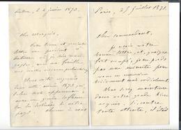 GENERAL CHANGARNIER 1793 - 1877  3 Lettres Autographe 186 . , 1871 , 1873 - Autogramme & Autographen