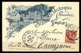 CV2746 VARALLO SESIA (Vercelli VC) Stabilimento Idroterapico, FP, Viaggiata 1899 Per Camignone (Bs), Ottime Condizioni - Vercelli