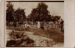 * T2/T3 1916 Koniuchy, Osztrák-magyar Hősi Katona Temetése / WWI K.u.K. Military, Funeral Of A Hero Soldier. Photo  (fl) - Unclassified