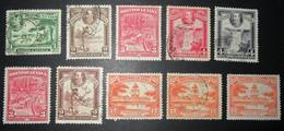 B3049 - British Guyana - 1934 - Sc. 206-207-210-211-212-213-215 - British Guiana (...-1966)