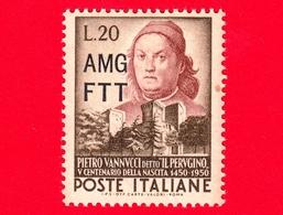Nuovo - MNH - ITALIA - Trieste - AMG FTT - 1951 - 500 Anni Della Nascita Di Pietro Vannucci, Detto 'il Perugino' - 20 - Neufs