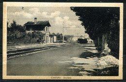 CV2739 CARTURA (Padova PD), La Stazione, FP, Viaggiata 1946 Per Milano, Ottime Condizioni - Padova