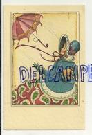 """Jeune Fille """"Belle Epoque"""". Parapluie (ombrelle ?) Qui S'envole - Illustrateurs & Photographes"""