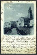 """CV2747 MONTEORTONE Abano T. (Padova PD) Veduta Del Santuario, Cartolina """"chiaro Di Luna"""", FP, Viaggiata 1901 Da Milano P - Padova"""