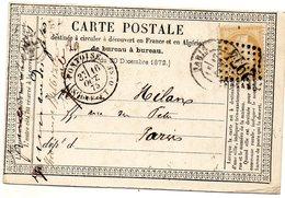 Seine-et-Oise - CPP Affr N° 59 Obl GC 2974 + C 18 Pontoise - Marcophilie (Lettres)