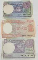 Circulated..India Inde 3 Notes - India