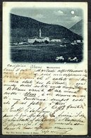 """CV2749 MONTEORTONE Abano T. (Padova PD) Veduta Panoramica, Cartolina """"chiaro Di Luna"""", FP, Viaggiata 1901 Da Milano Per - Padova"""