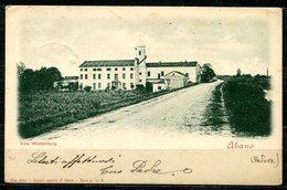 CV2750 ABANO (Padova PD) Villa Wollemborg, FP, Viaggiata 1901 Da Vò Per La Svizzera, Ottime Condizioni - Padova