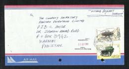 Qatar Air Mail Postal Cover Despatch POSTMARK Qatar To Pakistan Insects Animal Car CONDITION AS PER SCAN - Qatar
