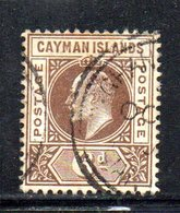 APR426 - CAYMAN 1905, Yvert N. 12  Usato  (2380A)  Fil  Multi CA - Cayman (Isole)