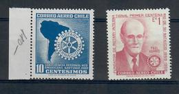 CILE 1960 / 1970  - ROTARY - 2 VALORI    MNH ** - Rotary, Lions Club