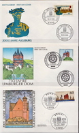 Germany 3 FDCs From 1985 - Architecture