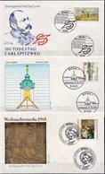 Germany 3 FDCs From 1985 - Art