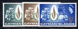APR2096 - CAYMAN 1968,  Serie Yvert N. 201/203  ***  MNH    (2380A) Diritti Uomo. Gomma Stanca - Cayman (Isole)