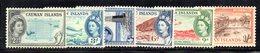 APR1146 - CAYMAN 1953,  Sei Valori * Linguellati    (2380A) - Cayman (Isole)